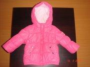 Продам французскую демисезонную куртку для девочки, 74 см, б.у