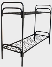 кровати металлические одноярусные недорого,  двухъярусные для общежитий