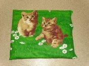 Лежанка для декоративных собак и кошек  из натурального льна