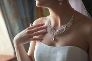 Свадебные украшения колье и сережки